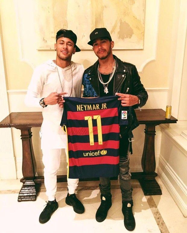 Neymar e Lewis Hamilton (Foto: Reprodução/ Instagram)