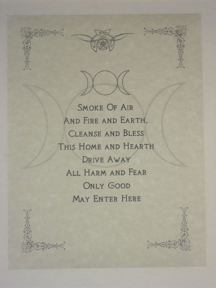 Wiccan House Blessings Poster or Book of Shadows P…
