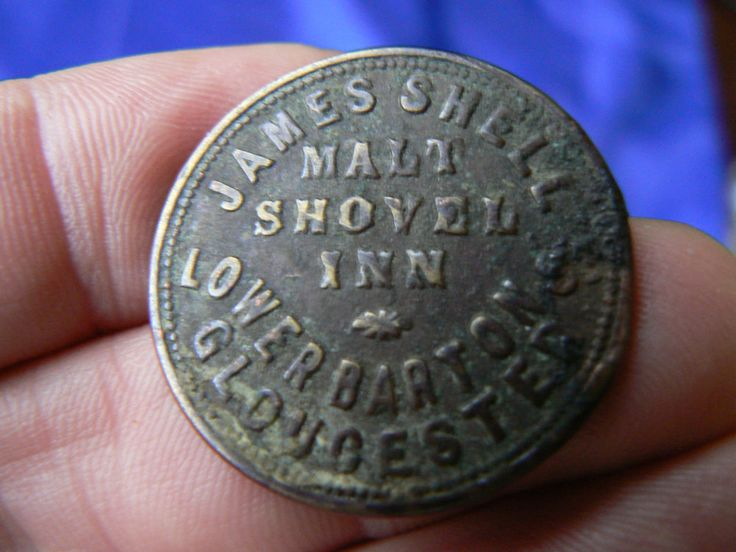 MALT SHOVEL INN LOWER BARTON GLOS PUB TALLY TOKEN CHECK GL14HT