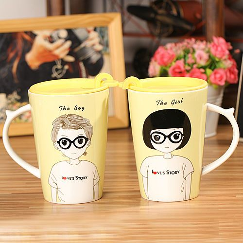 The Boy, The Girl cups