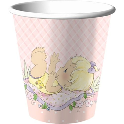 Our Precious Moments Baby Girl 9 Oz Cups Perfectly Match All The Party