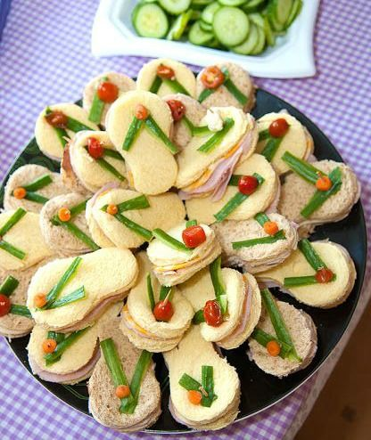 Fun Beach Party Foods for Summer: http://www.completely-coastal.com/2012/07/fun-foods-for-beach-theme-summer.html From flip flop sandwiches to beach cookies!