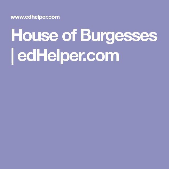 House of Burgesses   edHelper.com
