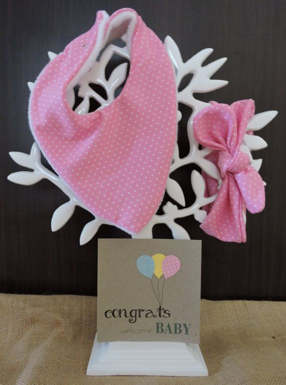 Gorgeous matching topknot and bib with card only $25. Check out this item in my Etsy shop https://www.etsy.com/au/listing/264913498/newborn-baby-gift-set-girl-topknot