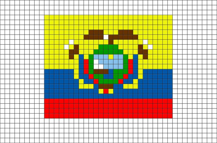 Flag of Ecuador Pixel Art from BrikBook.com #Ecuador #FlagofEcuador #RepublicofEcuador #Quito #Ecuadorian #pixel #pixelart #8bit Shop more designs at http://www.brikbook.com