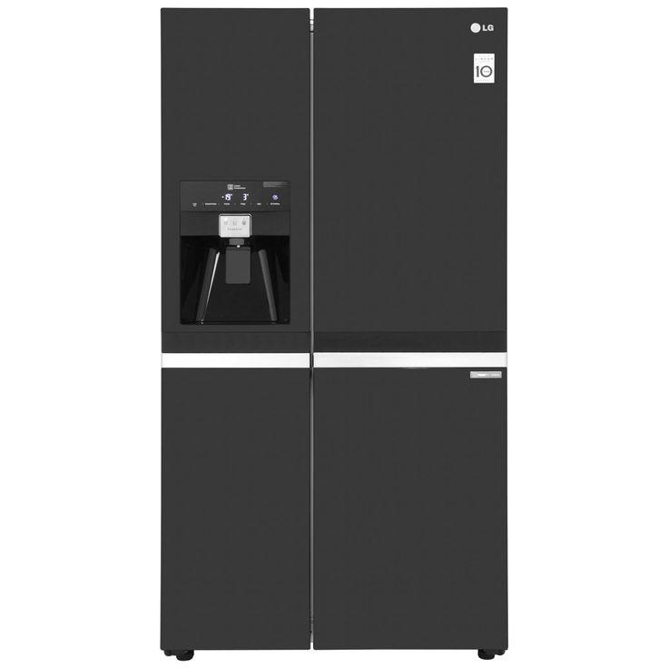 LG GSL545WBYV American Fridge Freezer - Black Gloss - £949