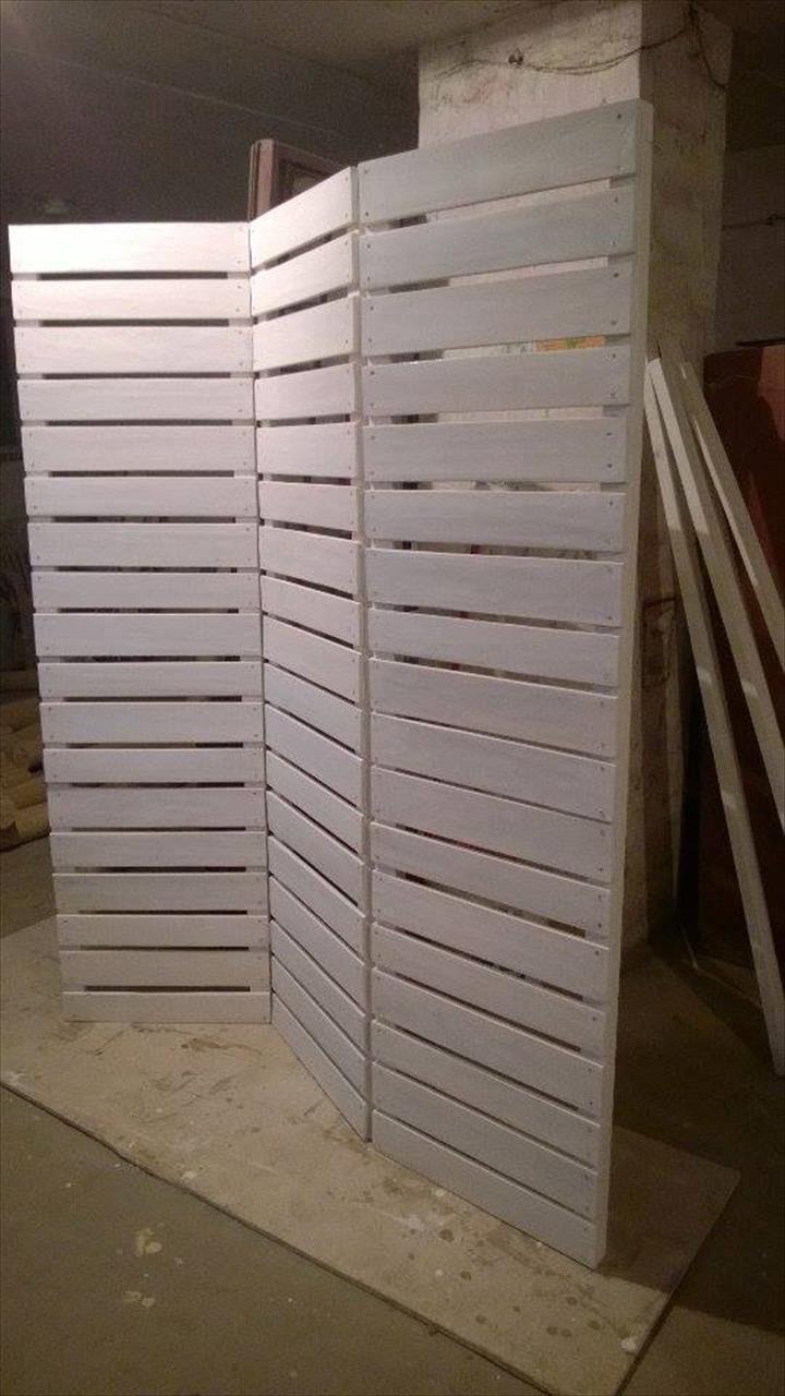 Diy room dividers - Wooden Pallets Room Divider Pallet Furniture Diy