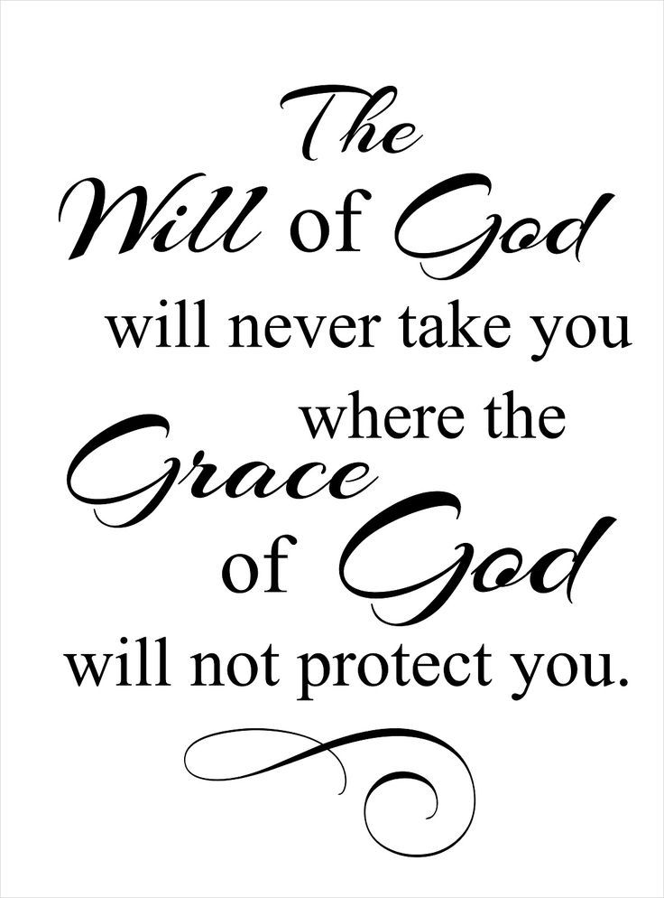 The will of #God #grace