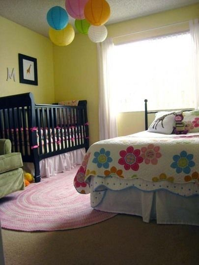 41 best images about shared master bedroom and nursery on - Toddler bedroom ideas for small rooms ...