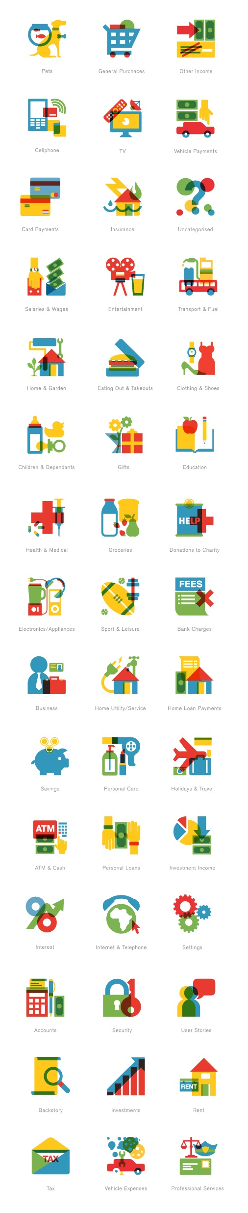 money site 22/7 icons. by madebyradio…