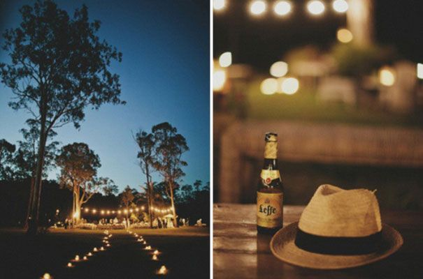 Outdoor lighting, yummy stubbies! Good beers will be a definite feature of our reception.