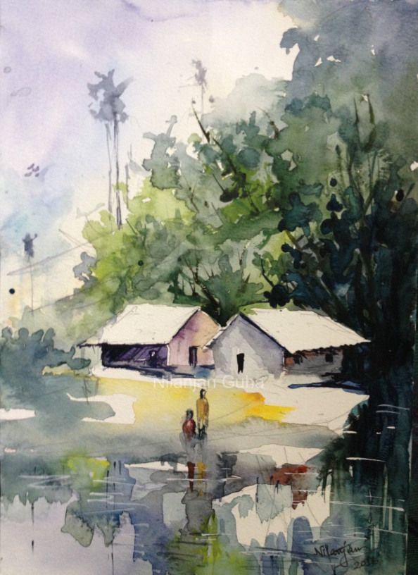 Worldwatercolorgroup Watercolor Painting By Nilanjan Guha