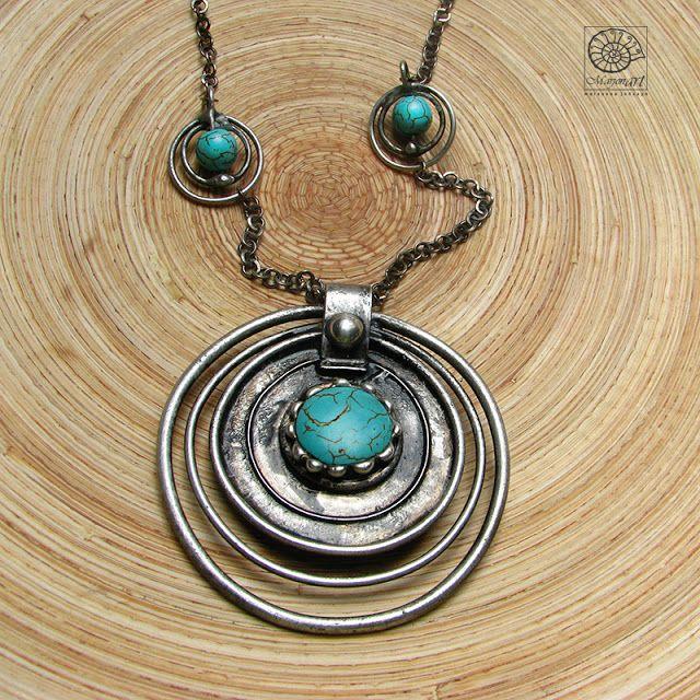 Pracownia Artystyczna Marjonart: 305   Marjonart #ожерелье #kolia #necklace #turquoise #turkus #jewelry #jewel #jewellery #bijoux #ювелирныеизделия #design #jewelrydesigner #art #accessories #presents #handmade #biżuteria #rękodzieło #handmadejewelry #oxidized #vintage #natural #silver #exclusive #fashon #moda