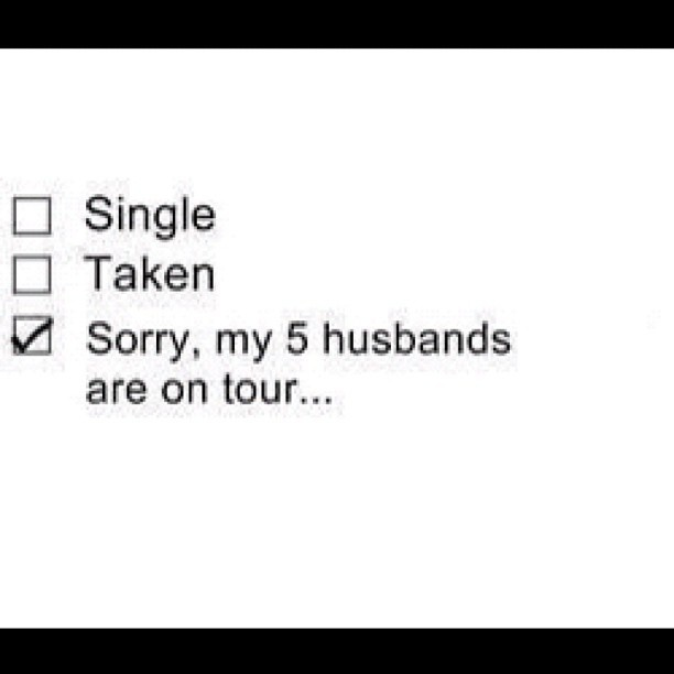Hahaha! Some of my friends definitely feel this way<<<<yes, and by 5 husbands I mean SHINee not One Direction