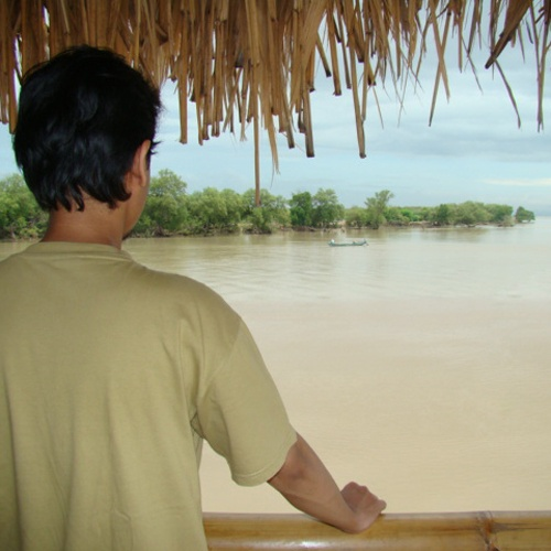 The estuary. This is where thousand hectares of mangrove forest in Wonorejo ends.
