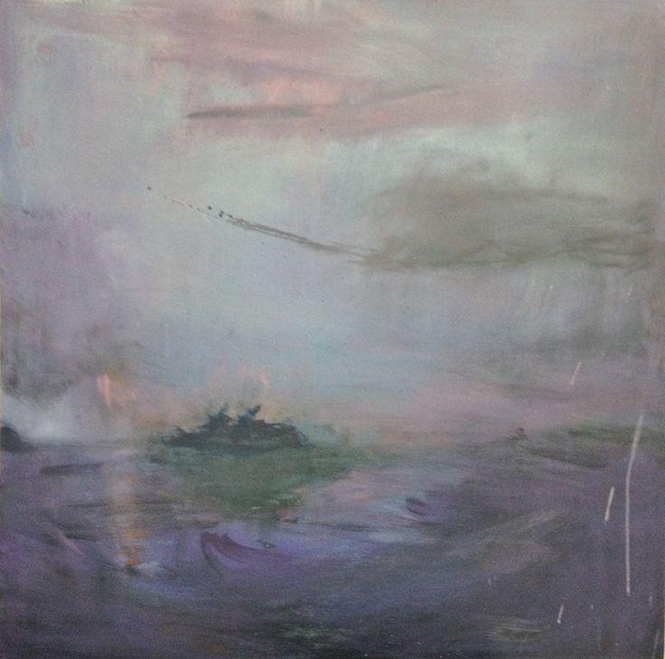 Landscape, oil on canvas.