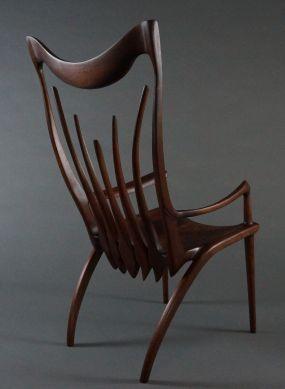 Walnut occasional chair