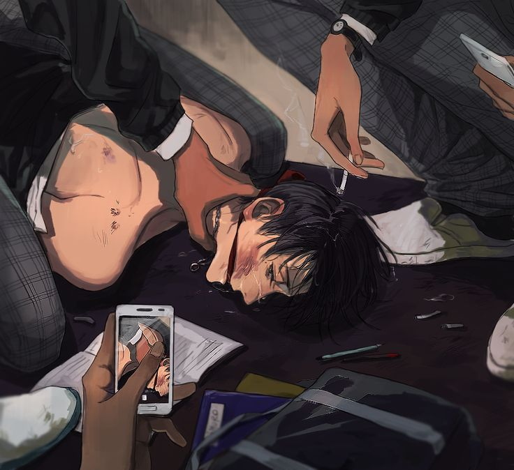 "((Open RP. Be his boyfriend?)) My boyfriend was a part of one of the major gangs, and apparently he had pissed some people off. They came after me. One of the men keeps me pinned to the ground by my throat. ""Mmph..."" I struggle weakly. They've been beating me for days... ""Smile for the camera, darling."" I groan into the cloth as they video chat with my boyfriend. ""Bring us the $20,000 or you never see him again."" I tense. ""This has nothing to do with him!"" ""You have one hour."""