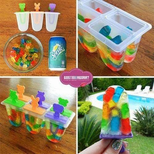 Ma vie d'ado: DIY 18: glaces marantes au sprite et bonbons
