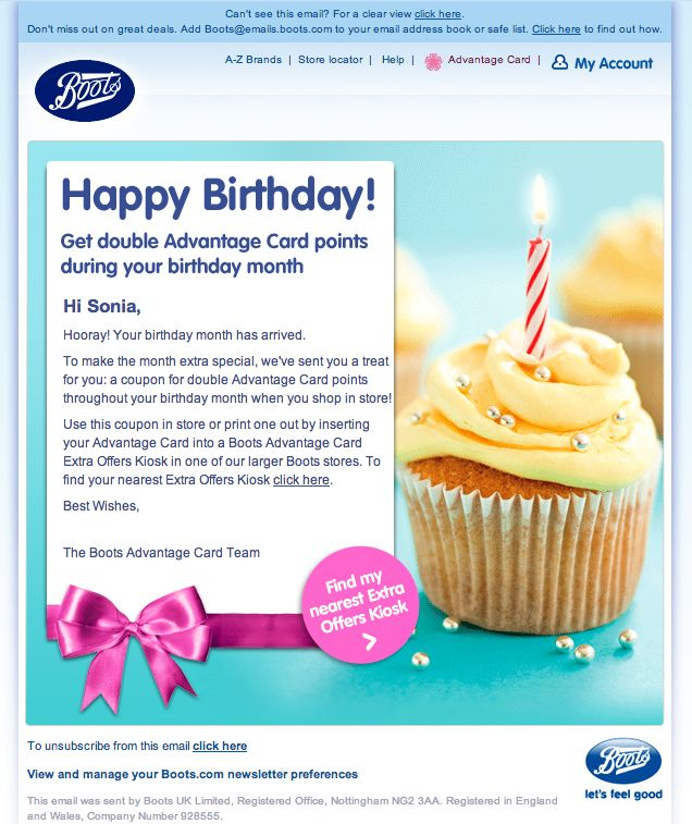 Birthday email from Boots featuring animated gif candle. View it here http://view.emails.boots.com/?j=fefc1678766402&m=fe8f12717d62057f7d&ls=fe5e1c777460057a7410&l=ff3117737160&s=fe6315757661017d7612&jb=ff971074&ju=fec01175746c027b&%%__AdditionalEmailAttribute1%%&r=0