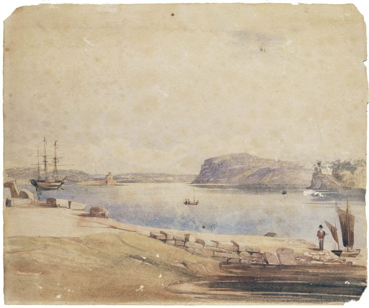 Goat Island - Place of punishment for prisoners c1835-45 painted by Frederick Garling