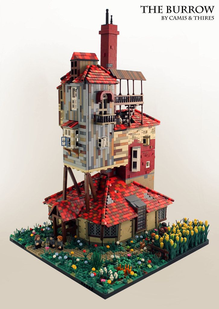 The Burrow By Thire5 Pimped From Flickr Lego Hogwarts Maison Lego Idée Construction Lego