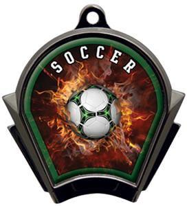 Hasty Awards Inferno Soccer Black Finish Medals