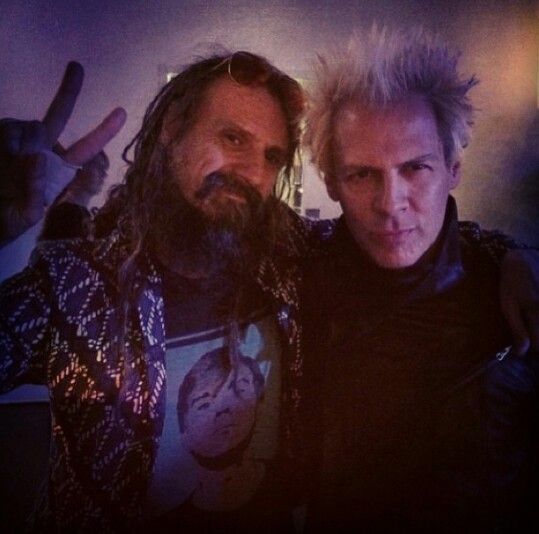 Rob Zombie and his brother, Spider One of Powerman 5000, celebrating Rob Zombie's 50th birthday.