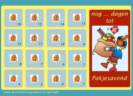Gratis aftelkalenders - gratisbeloningskaart.nl