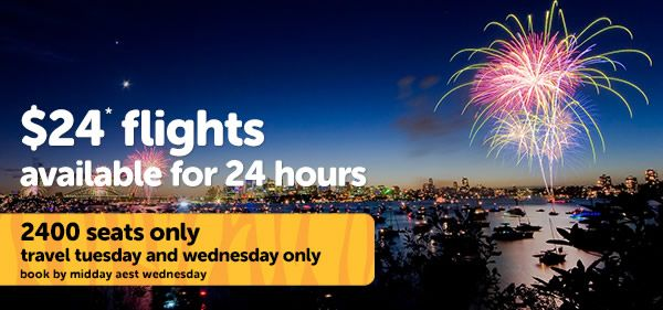 Tigerair $24* flights available for 24 hours. #flightdeals #cheapflights #travel #australia