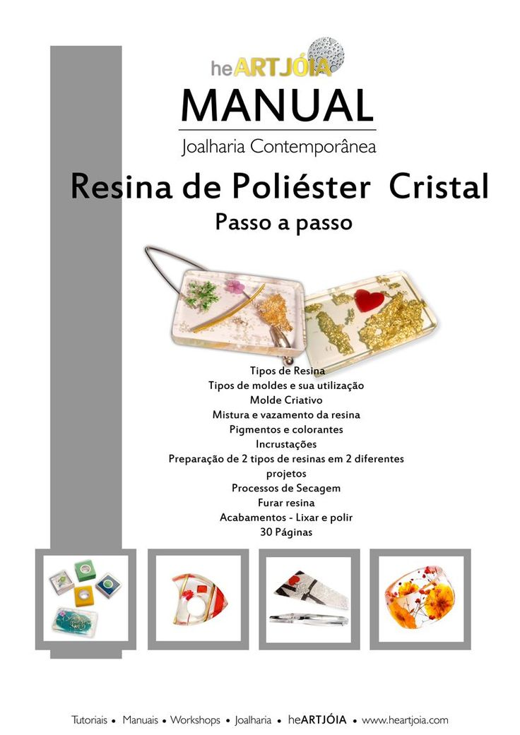 Manual de Resina de Poliéster Cristal Passo a Passo