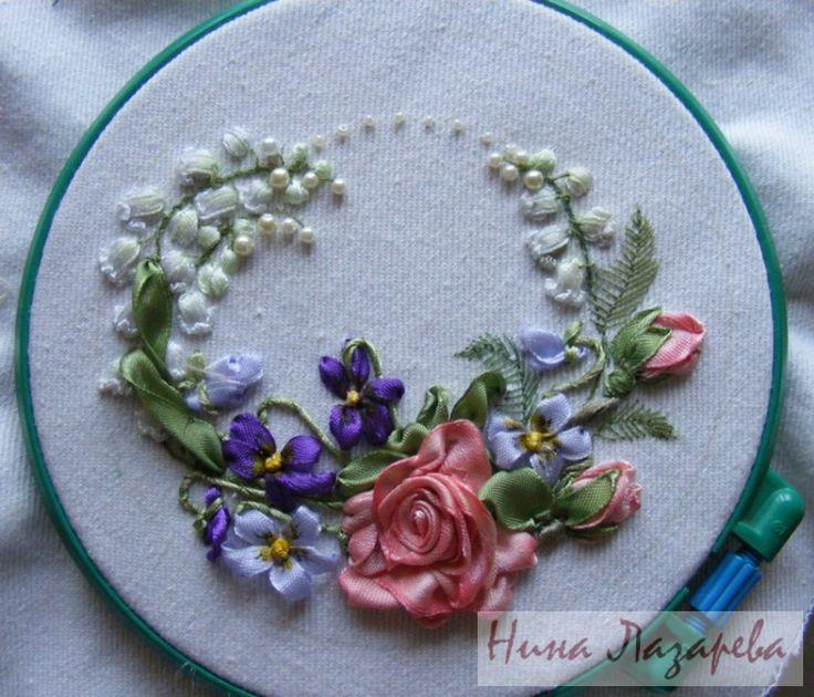 4695 Best Ribbonwork Images On Pinterest Ribbon Art Ribbons And