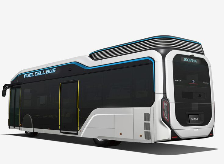 toyota's sora electric bus concept explores future of fuel cell technology