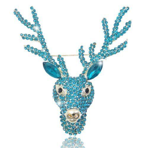 Ever Faith Austrian Crystal Stag Head Sea Brooch Blue Gold-Tone N02616-5 Ever Faith http://www.amazon.co.uk/dp/B00IJ148AU/ref=cm_sw_r_pi_dp_qAfUvb1V8GZ4C