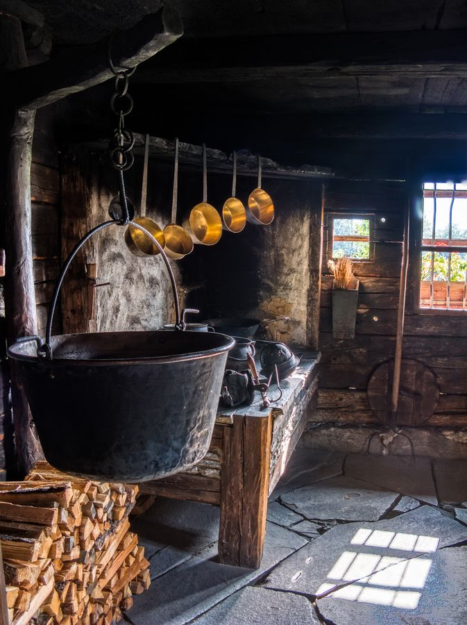 The Old Kitchen -- would love to have a canning kitchen so I could can, hang herbs, etc.!!!
