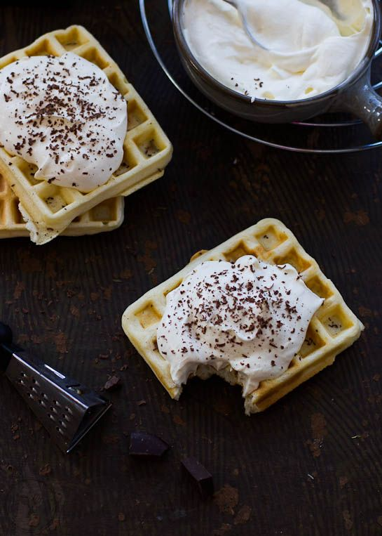 French Waffles with Cointreau Cream - http://wholesome-cook.com/2013/09/23/french-waffles-with-cointreau-cream/