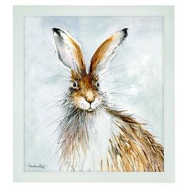 Bring nature into your home with this charming print in a wooden frame. Featuring a hare, team with neutral walls and pastel accents to complete the look.  Product: Framed art printConstruction Material: Paper and woodFeatures: Original artwork by Heather FiltzDimensions: 23 cm H x 21 cm W x 3 cm D