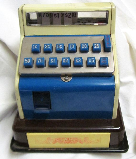 Toy Cash Register : Best images about vintage toy cash registers on