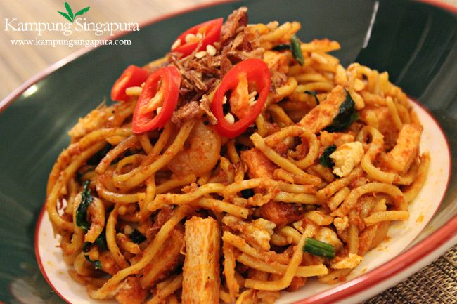 Mee basically refers to noodles and Goreng is stir fry. My all time favourite is the Indian Muslim Mamak Mee Goreng. No others can match up to this one.