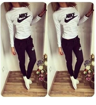 f2c69219eb Women's 2 PC Nike Track/Jogging Suit | Track & Field | Nike outfits, Girls  tracksuit, Nike