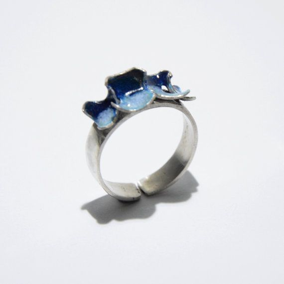 Double colour enamel ring by JRajtar on Etsy