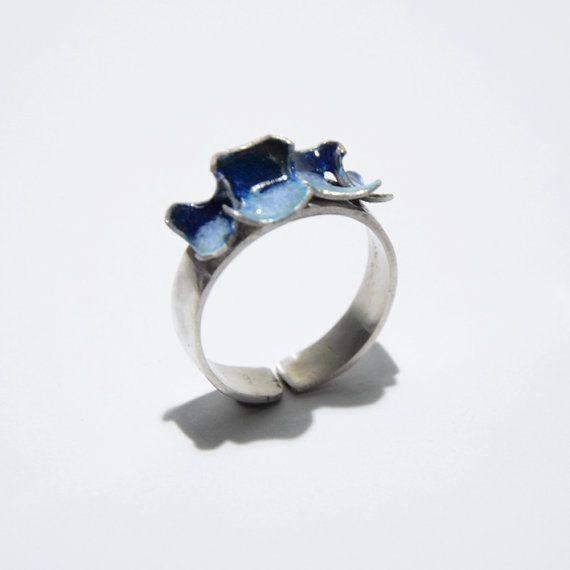 Double colour enamel ring by JRajtar on Etsy