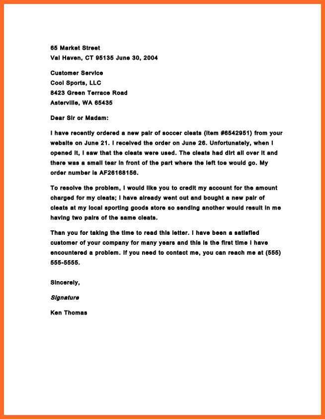 Complaint Letter Sample Business Letter Of Complaintpptx Example 1