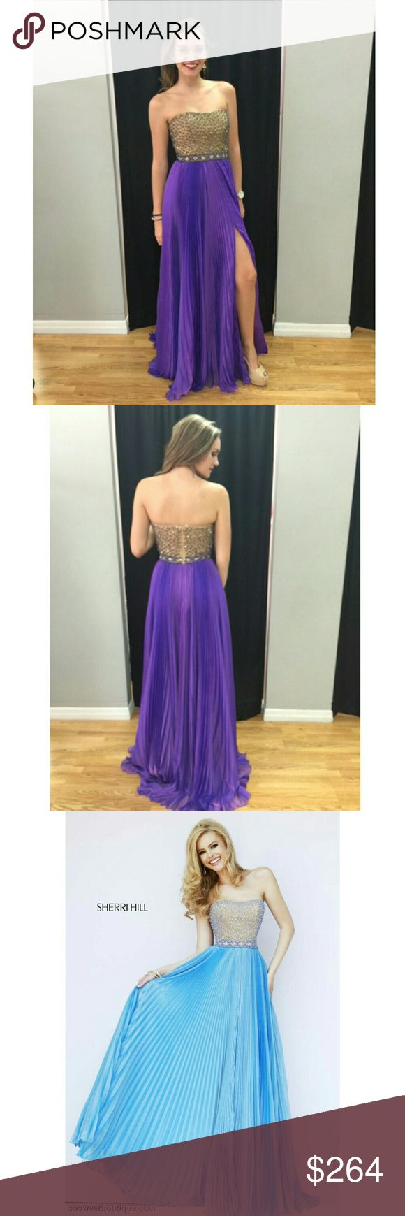 Sherri Hill Prom Dress Prom Gown Style 32143 AUTHENTIC SHERRI HILL PROM GOWN: Avoid online shopping nightmares by staying away from cheap prom dress knockoffs! This item is from a certified Sherri-approved retailer so you can rest assured knowing that you will be wearing a genuine designer prom gown at Prom2k17.    BRING ON THE BLING: This gown is delicately embellished with only the best materials and adornments. Your friends will definitely be impressed with your gorgeous & glitzy long…