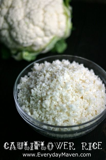 How to Make Cauliflower Rice #weightwatchers