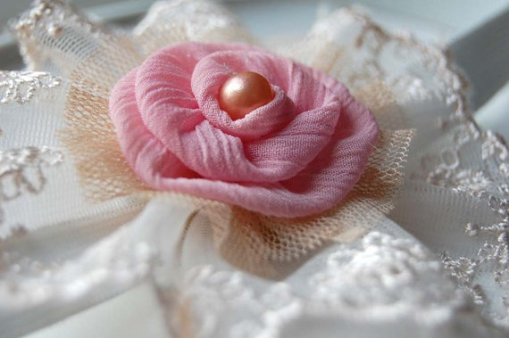 Pink Shabby Chic Infant Headband