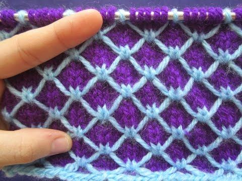 Multi Color Slipped Stitch: Scales Pattern - YouTube