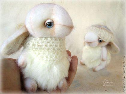 Мишки Тедди ручной работы. Ярмарка Мастеров - ручная работа Белые кролики. Тедди. Handmade.