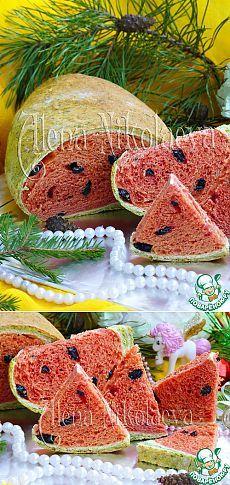 """Хлеб """"Дольки арбуза"""" - кулинарный рецепт"""