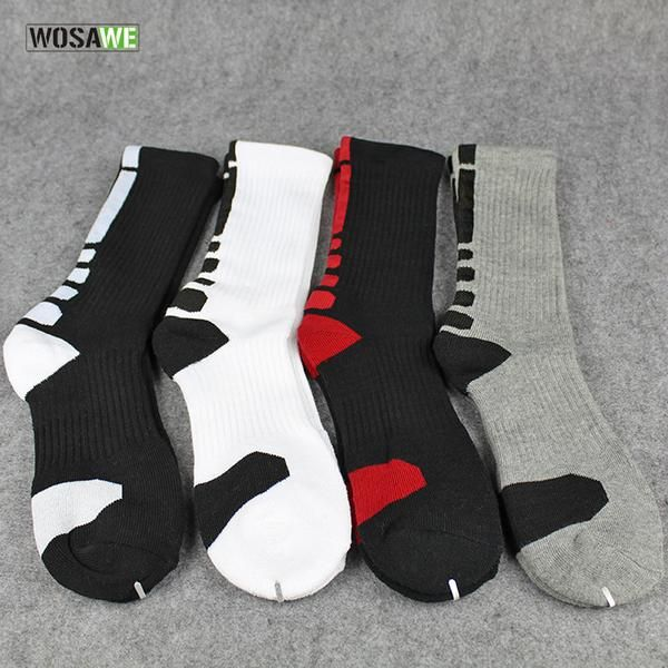 WOSAWE Breathable Cycling Sock Men Women Bike Socks Outdoor Sports Running Soccer Basketball Sport Socks Calcetines Ciclismo